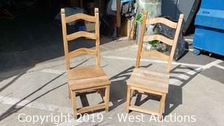 (2) Rustic Chairs