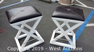 (2) Contemporary Bar Stools
