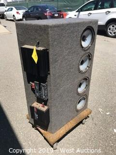 Subwoofer Box With Amps (Speakers Not Included)