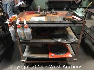 """25""""x36""""x36"""" Steel Cart With Tools And Supplies"""
