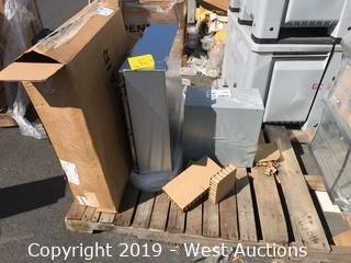 Pallet of Pentair Enclosure and Hoffman Pull Box