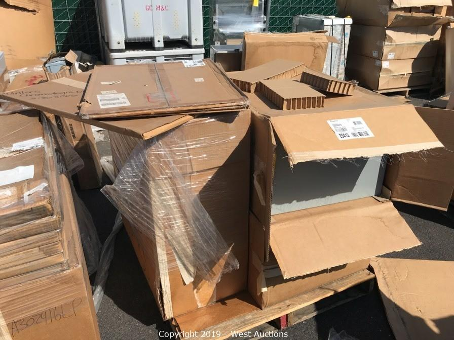 Hoffman Industrial Control Panel Enclosures, Alber Corp CLU, Unipower Rack, and Pallet Racking Auction in Stockton, CA