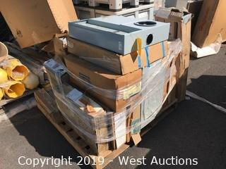 Pallet of Breaker Boxes, Panels, Load Center, and More