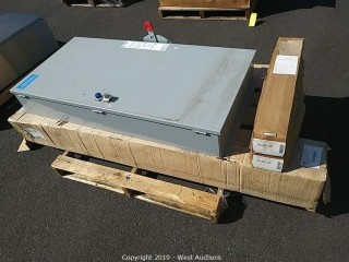 Pallet of Eaton Circuit Breaker Enclosure and Stainless Steel Accessories