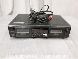 Sony Stereo Cassette Deck Tc-we805s