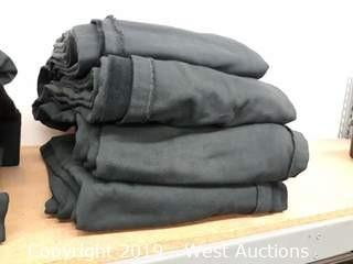 (4) Units of Black Cotton Velour