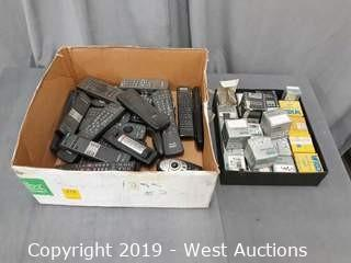 Bulk Lot: Projector Bulbs And Remotes