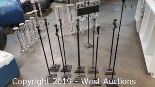 (10) Adjustable Isle Runner Heavy Base Stands