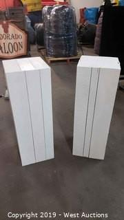 "40"" Tall Rustic White Wood Boxes"