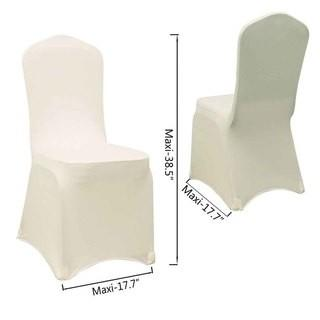 Appoximently 300 Ivory Spandex Chair Covers