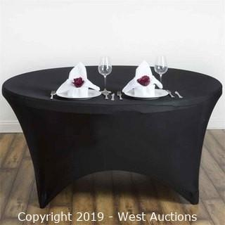 (60) Black Spandex Table Covers