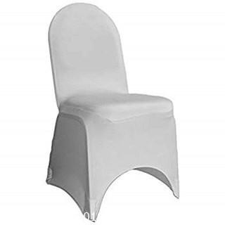 (49) Silver Spandex Chair Cover