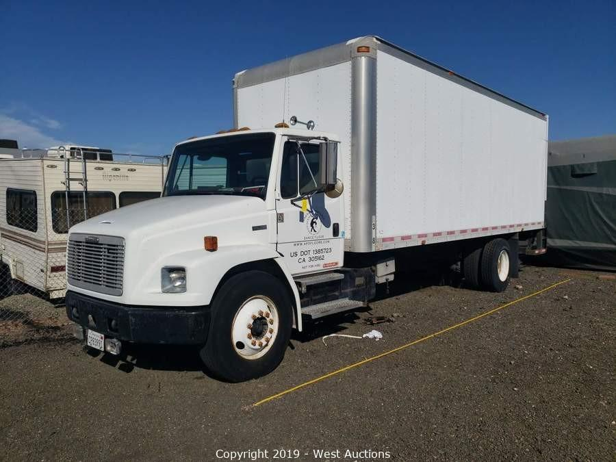 Online Auction of (2) 2000 Freightliner Diesel Box Trucks and Audio Visual Equipment