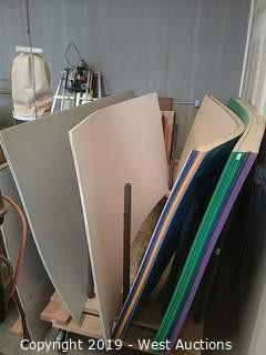 "(29) Assorted 8' × 4' × 1/4""  Sheets of Rigid Foam PVC"