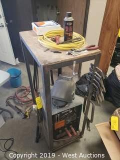Miller Thunderbolt AC Arc Welding Power Source On Cart