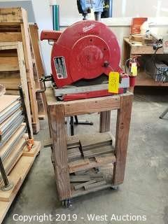 "Milwaukee 14"" Abrasive Cut-Off Saw On Stand"