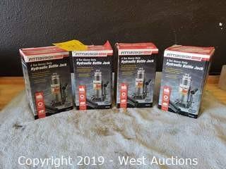(4) Pittsburgh 4 Ton Hydraulic Bottle Jacks
