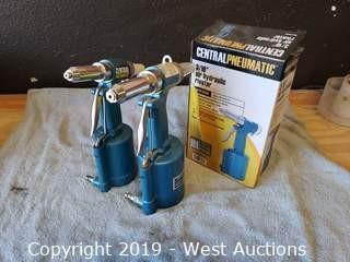 """(3) Centeal Pneumatic 3/16"""" Air Hydraulic Riveters"""