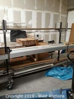 7' Custom Built Portable Material Rack (NO CONTENTS)