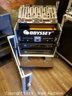 Odyssey Rack in Rolling Road Case with Contents