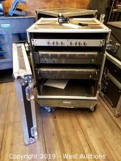 Amp Rack In Rolling Road Case