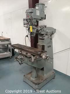 Alliant 1½TMV Vertical Milling Machine With Digital Readout