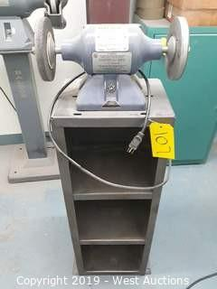 Baldor 612E Bench Grinder With Stand