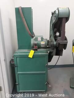 "Burr King 760 1.5"" X 60"" 3 Wheeled Belt Grinder With Dust Collector"