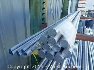 "Aluminum Stock: (12) 2⅜""x 12' Rod And (8) 1""x12' Bars"