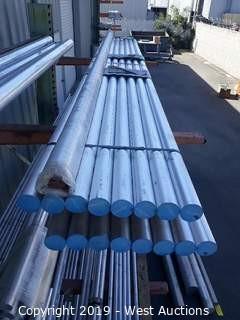 """Aluminum Stock: (17) 2⅜""""x12' Aluminum Rod"""