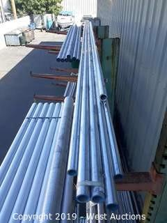 "Aluminum Stock: (6) 2""x12' Rod And (5) 2""x20' Pipes"