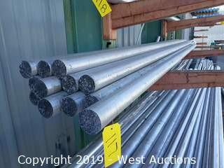 "Aluminum Stock: (13) 2½"" X 12' Rod"