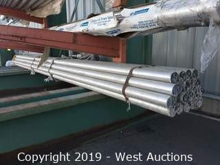 "Aluminum Stock: (20) 2⅛"" x 12' Rod"
