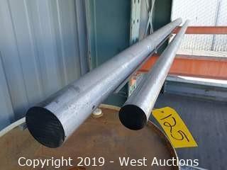 "Aluminum Stock: (1) 2⅜"" And (1) 3½"" X 12' Rod"
