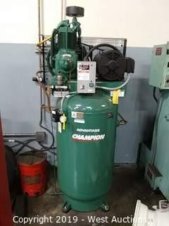 Champion Pneumatic VR7F-8, 80 Gal. Vertical Reciprocating Compressor