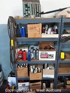 6' Product Shelf Rack full of Transmission Fluid