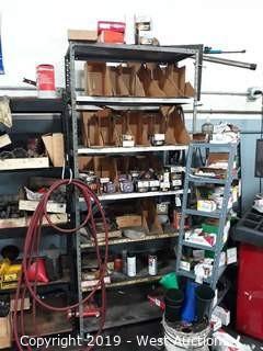7' Shelf Rack  Full of Air Filters