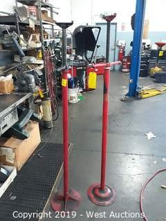 (2) Adjustable Jack Stands