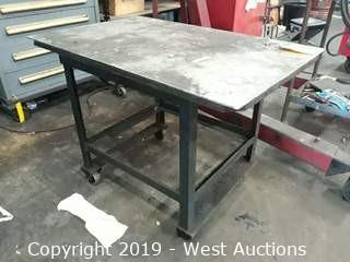 Steel Table on Casters 38x24""