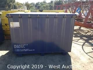 "Forkliftable ""B 25"" Steel Storage/Shipping Container with Bolt-Down Lid"