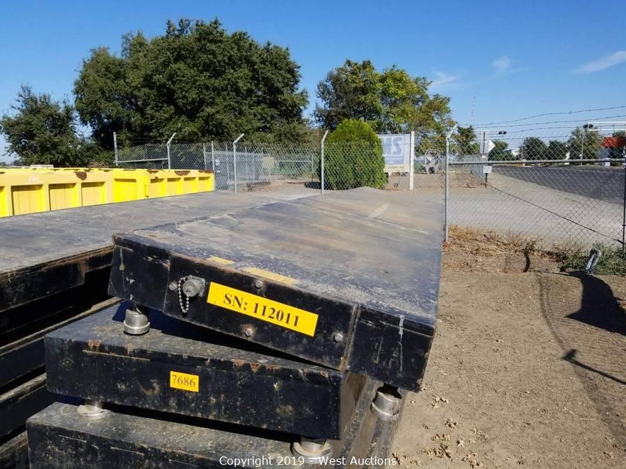 Online Auction of Trench Plates, Steel Storage Containers, Intermodal Scales, and More in Woodland, CA