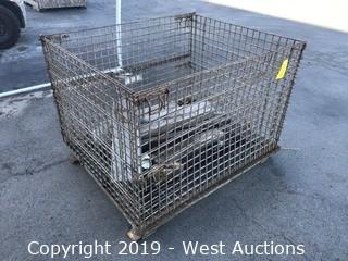 """40""""x48""""x36"""" Metal Cage With Wood Pieces"""