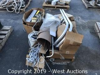 Pallet Of Cables, Piping, And Other Materials