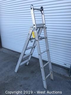 5' Adjustable Aluminum Ladder
