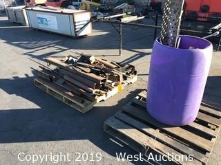(2) Pallets of Steel Bar, Bean, Tubing Remnants