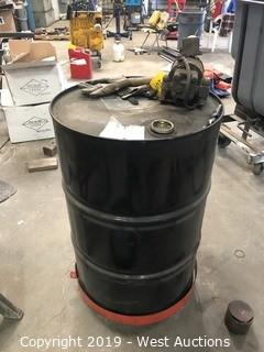 55 Gallon Oil Drum with Dolly