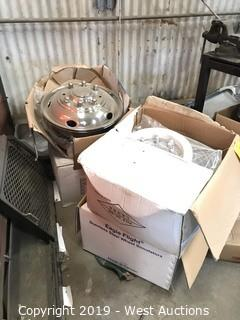 (4) Boxes Of Stainless Steel Wheel Simulators