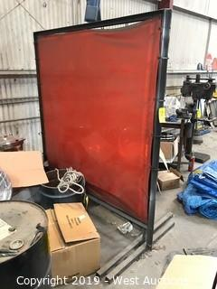 (2) 6'x6' Welding Screens With Stands