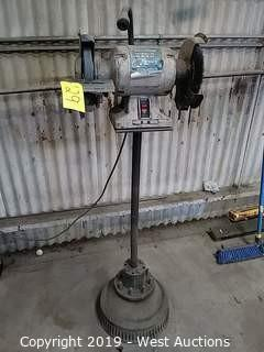 "Westward 4TM71 8"" 1HP, Bench Grinder, Pedestal Mounted"