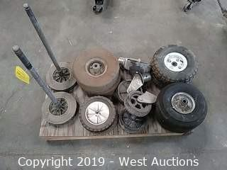 Assorted Carts Wheels